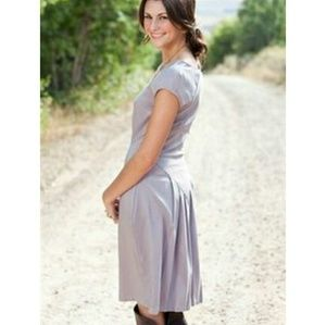 Shabby Apple Aintree dress Gray Lilac Modest